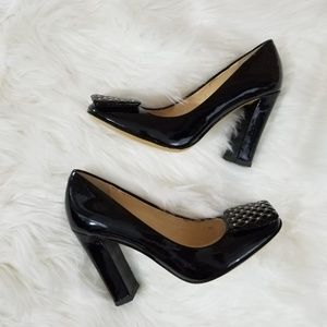 Talbots Black Patent Leather Square Round Toe Heel